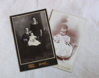 Cabinet Photographs - Family and Baby