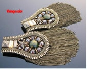 A1 2pcs Vintage handmade epaulet High fashion shoulder jewelry vintage brooch shoulder armour clothes accessory spaulder pauldron