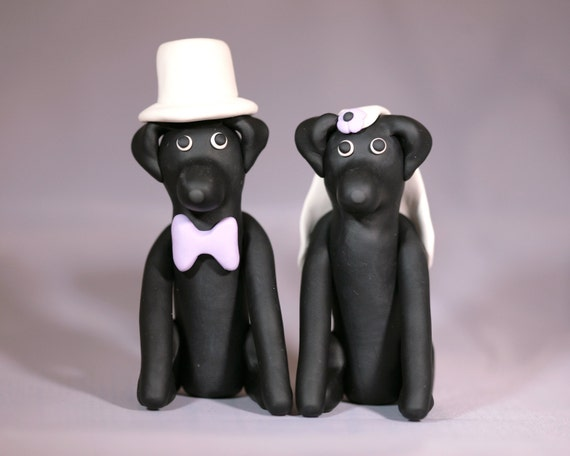 Black Lab Labrador Retriever Dog Wedding Cake Topper