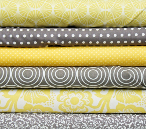 gray yellow yard bundle of six. Black Bedroom Furniture Sets. Home Design Ideas