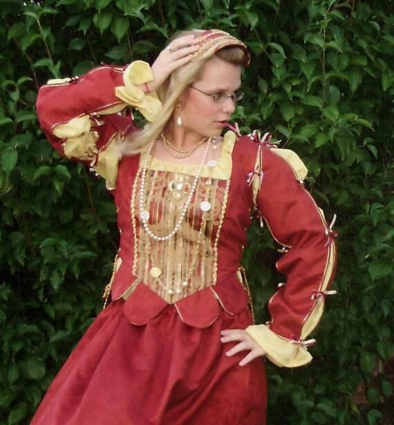 CUSTOM ORDER Renaissance Outfit Complete - Made to order Renaissance Costume Tudor Medieval Fair