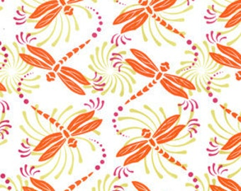 Dragonfly Fabric - Spring Fabric - Girly Fabric - Michael Miller Fabric