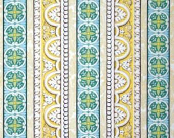 Nursery fabric - Stripe Fabric - Yellow Fabric - Michael Miller