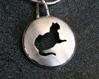 Silver Jewelry, Silver Pendant, Silver Jewellery, Cat Jewelry, 'Fat Cat', Pendant