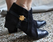 Vintage Suede Leather Vero Cuoio Ankle Boots