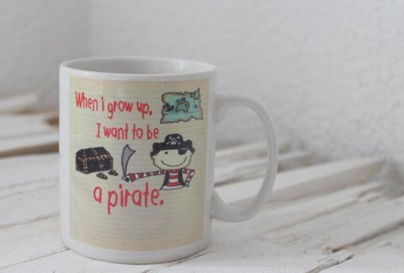 Pirate mug for kids and adults