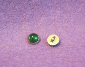 Wee Vintage Glass Buttons for Blouses, Doll Clothes