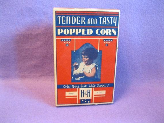 1930s, 'Oh Boy, but it's Good', H & H Unused Popcorn Box