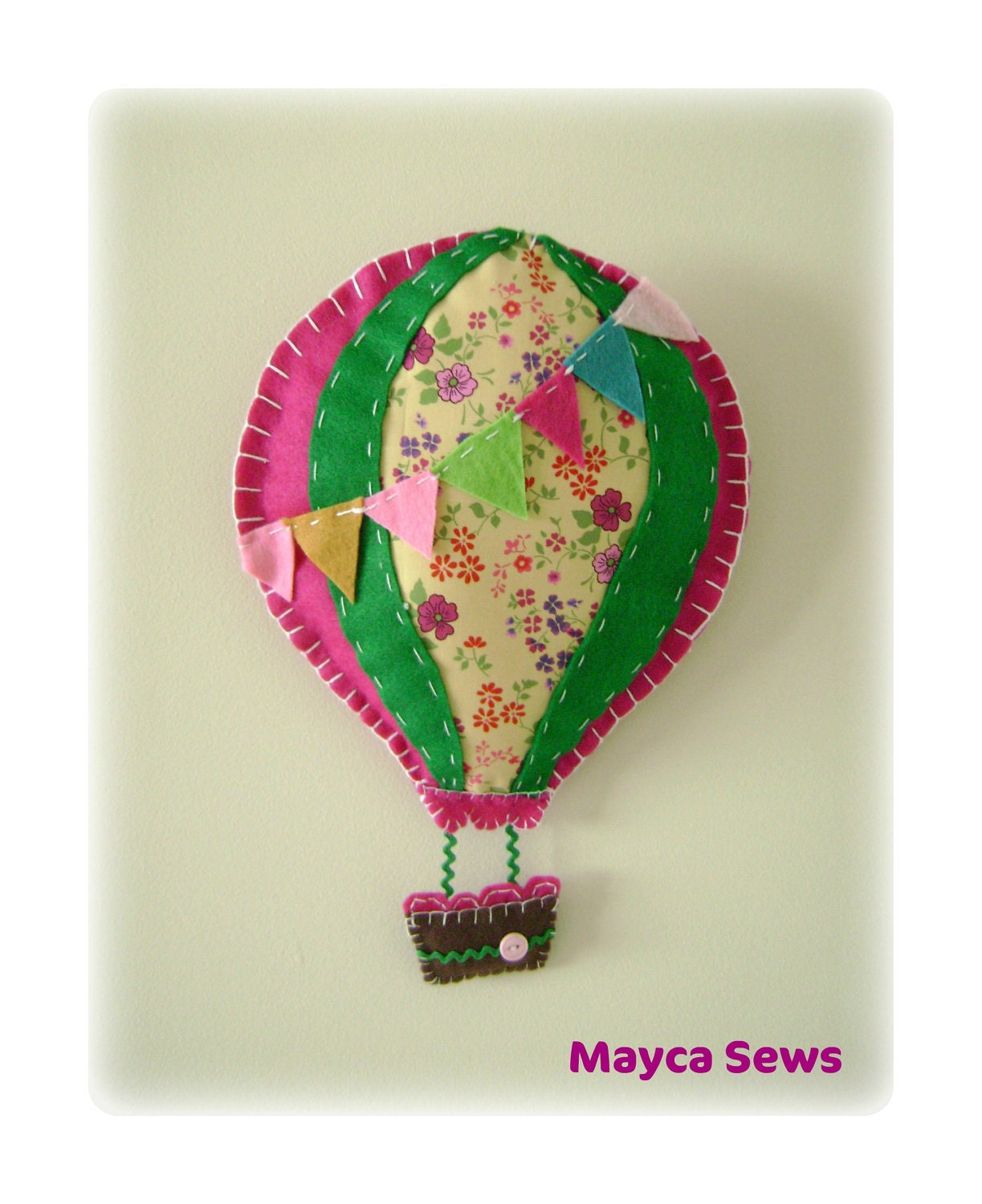 Hot Air Balloon Wall Decor. For Nursery Or Kids' By Maycasews