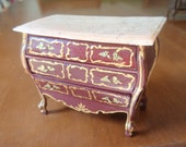 Dollhouse Miniature Furniture - French Style Chest of drawers