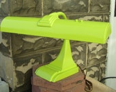 Vintage Retro Lime Green Upcycled Gooseneck Desk Lamp