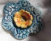 Five Colorful Ceramic Flowers