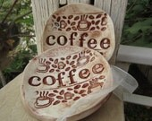 Coffee Bowl Ceramic Set of 2 Spoon Rests Kitchen Decor Holiday Gifts