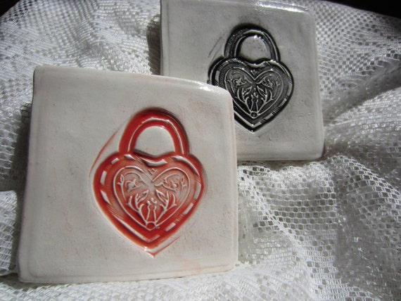 RESERVED Lock and Key Ceramic Tiles
