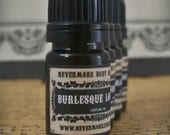 Perfume Oil Burlesque Lounge Fragrance Leather Tobacco Plum Apple Lemon Vanilla Nevermore Body Company