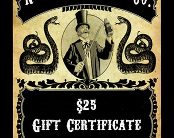 25 Dollar Gift Certificate Nevermore Body Company Bath and Beauty