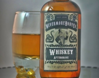 Whiskey Mens Aftershave  Nevermore Body Company Black Friday Cyber Monday etsy