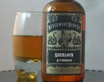 Sherlock Mens Aftershave  Nevermore Body Company Black Friday Cyber Monday etsy