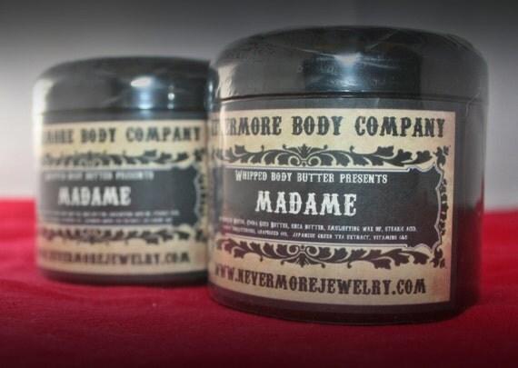 Cream Lotion Madame whipped body butter lotion Vegan Figs Apple Oak Mahogany Vanilla Nevermore Body Company