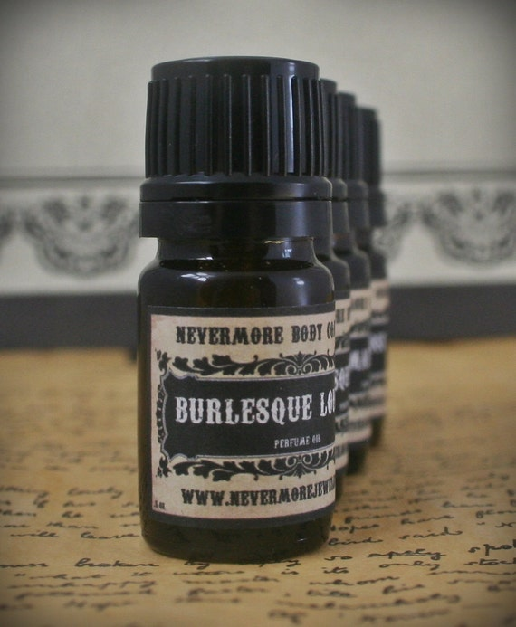 Perfume Oil Burlesque Lounge Fragrance Leather Tobacco Plum Apple Lemon Vanilla Nevermore Body Company