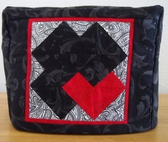 Black Toaster Cover - Quilted Patchwork