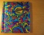 1970s PSYCHEDELIC PHOTO ALBUM in Vibrant Silky Paisley Print (Perfect for those Hipstamatic Shots)