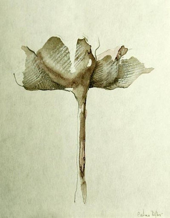 FLOWERS - Drawings with Ink, pencil and acrylic