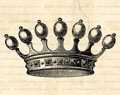 Crown - Digital Download  for Iron on Transfer, Papercrafts, Pillows, T-Shirts, Tote Bags, Burlap, No 00290