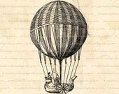 INSTANT DOWNLOAD Hot Air Balloon - Digital Download for Iron on Transfer, Papercrafts, Pillows, T-Shirts, Tote Bags, Burlap, No 00405