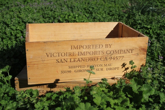 Wooden French Wine Crate