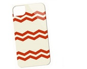 Vintage Red Chevron cell case