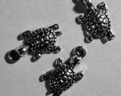 Turtle Tortoise 3 pc Silver Pewter Charm