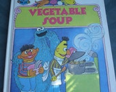 Vintage Sesame Street Books 1980, Don't Forget the Oatmeal, Vegetable Soup