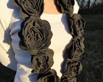 Fleece Flower Scarf