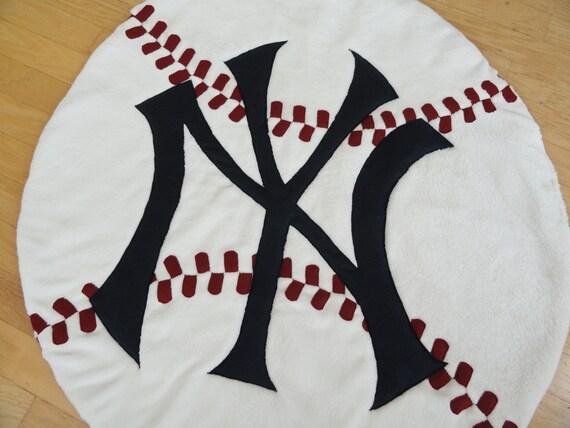 Baseball Floor Quilt Yankees