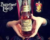 Butterbeer Label Party Favors *INSTANT DOWNLOAD*