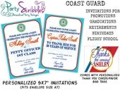 Invitation & Thank You Card Set for Coast Guard Promotions, Retirements, Graduations