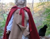 Little Red Riding Hood Costume size 4-6 with matching doll