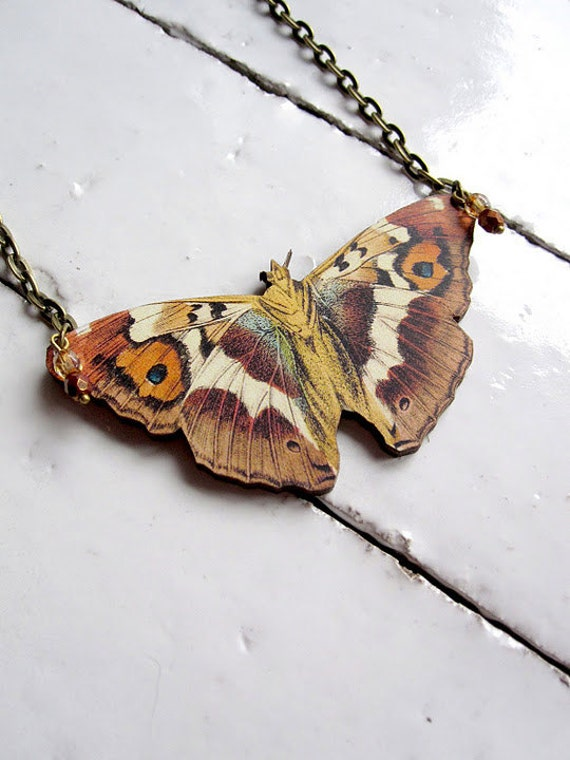 Moth Necklace Butterfly Necklace Woodland Necklace