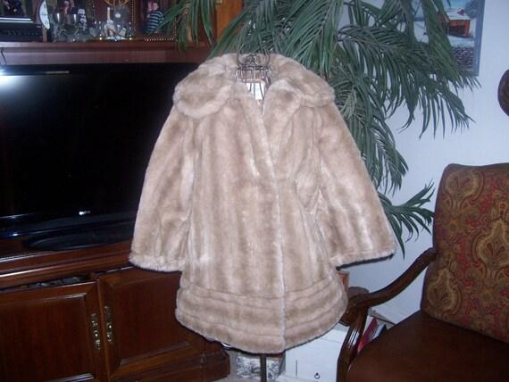 Vintage Tissavel Faux Fur Coat