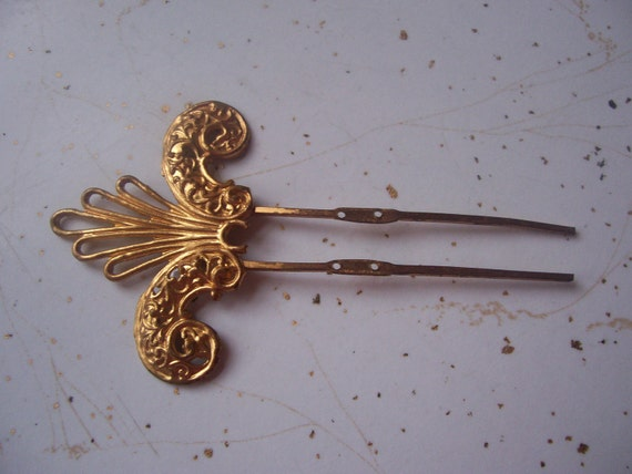 Antique Victorin Gold Hair Comb