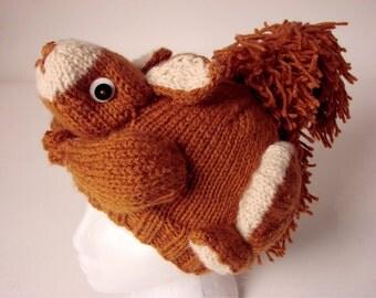 PATTERN - Knit Squirrel Hat