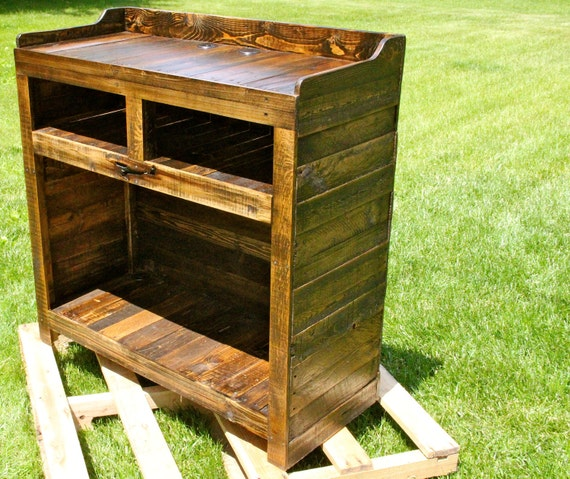 Reclaimed Pallet Wood Furniture Entertainment Stand By Fasprojects