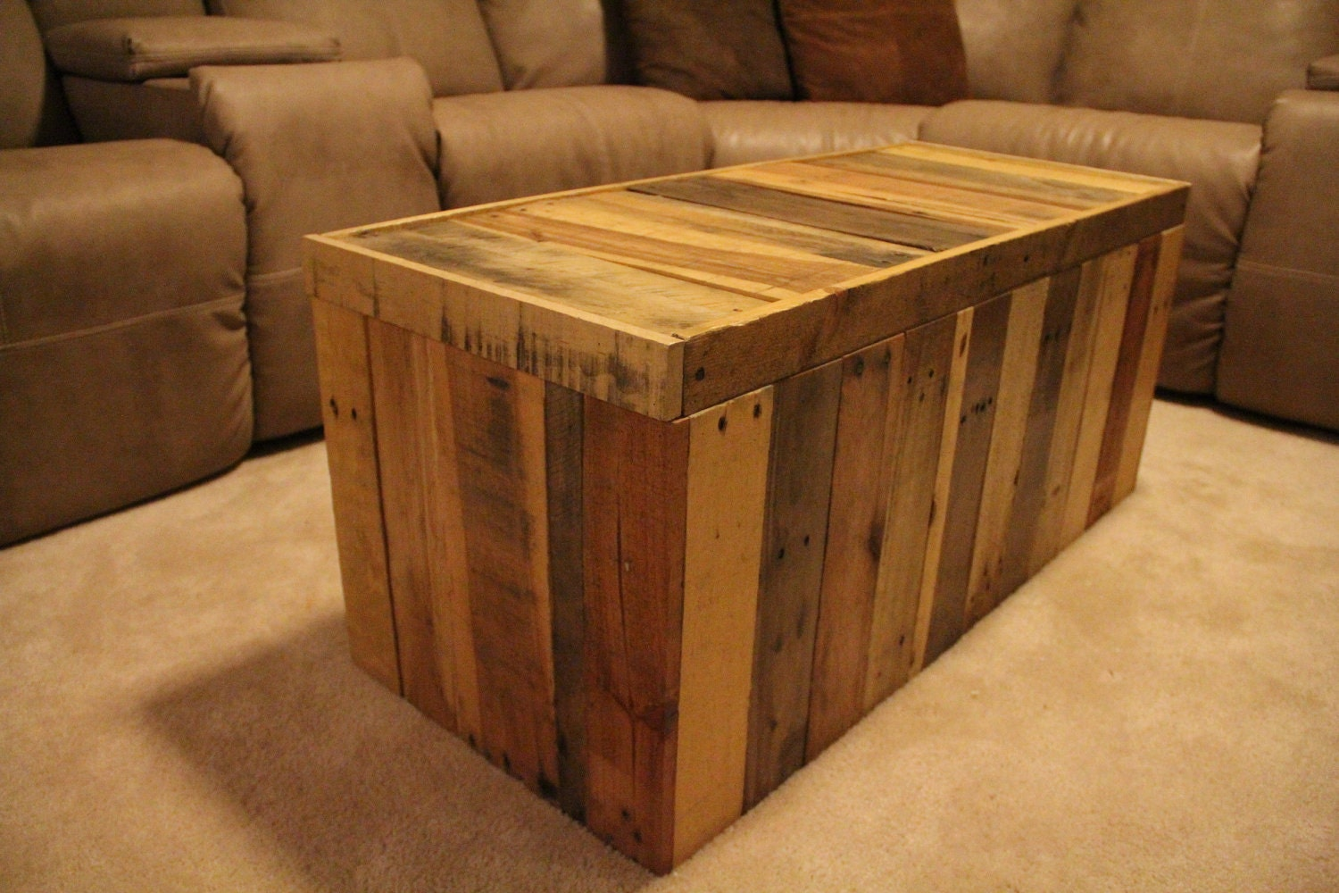 Wonderful image of Reclaimed Pallet Wood Furniture Storage Chest by FasProjects with #B47817 color and 1500x1000 pixels