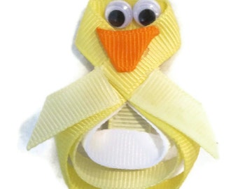 Easter Chick Duck Yellow Hair Clip