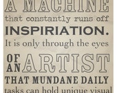 An Artist Typography Poster - Vintage Style Art Print - Artist Inspirations - by Kelly Strong