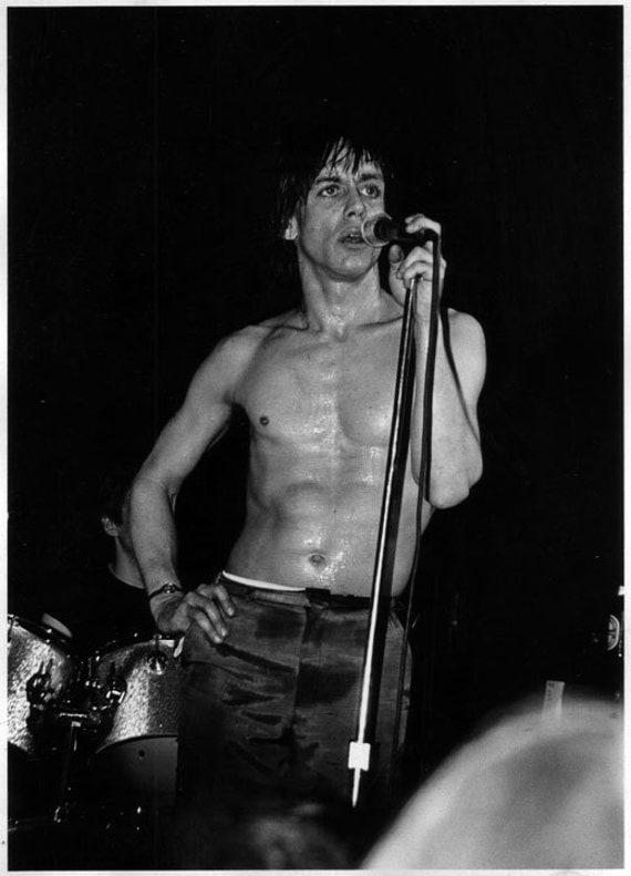 Original Fine Art Photograph by Allen Brand:  Iggy Pop circa 1980.
