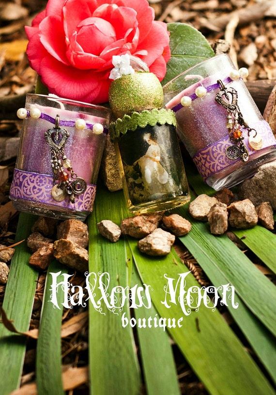 Purple Fairy Handmade Love Garden Candle Set