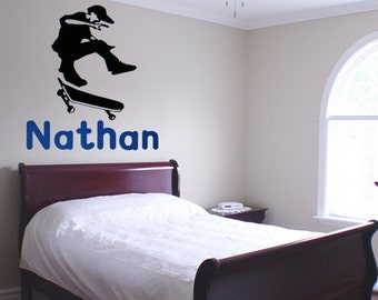 Personalized Skateboarder Wall Decal