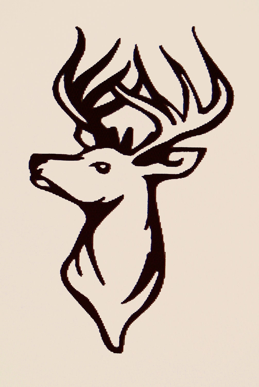 Deer Head Car Decal Sticker by MelissaVinylDecals on Etsy